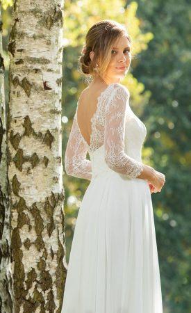 Vintage Brautkleid tiefer Rückenausschnitt