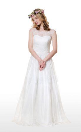 Vintage Brautkleid aus Spitze und Tüll