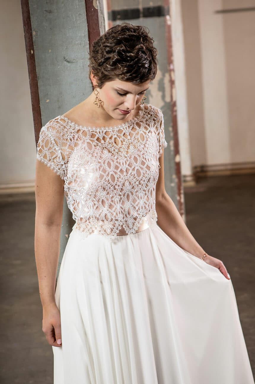 2-teiliges Boho Brautkleid